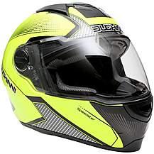 Duchinni D811 Gloss Black/Neon Motorcycle Hel