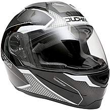 image of Duchinni D811 Gloss Black/Gunmetal Motorcycle Helmet