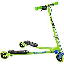 image of Yvolution Y Fliker A1 Kids Scooter - Green/Black