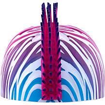 image of Tuff NutZ Credz Mohawk Rainbow Zebra Kids Helmet (52-55cm)