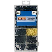 image of Halfords Assorted Push Pin Clips 160pcs