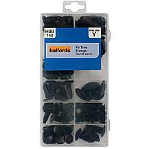 image of Halfords Assorted Fir Tree Fixings 138pcs