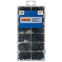 image of Halfords Assorted Screw Trim Rivets 93pcs
