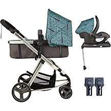image of Cosatto Giggle Mix Whole 9 Yards Hold Isofix Travel System Bundle - Fjord