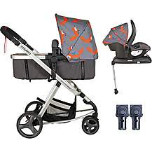 image of Cosatto Giggle Mix Whole 9 Yards Hold Isofix Travel System Bundle - Mister Fox
