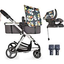 image of Cosatto Giggle Mix Whole 9 Yards Hold Isofix Travel System Bundle - Nordik