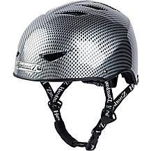 image of HardnutZ Black Street Helmet Carbon Fibre Effect - Large 58-61cm