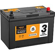 image of Halfords HB335 Lead Acid 12V Car Battery 3 Year Guarantee