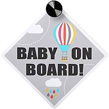 image of Head in the Cloud Baby on Board Sign