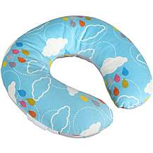 image of Head in the Clouds Reversible Toddler Neck Pillow