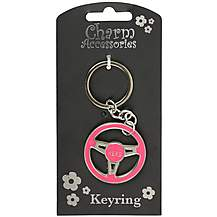 image of Keyring Steering Wheel Hers (Pink)