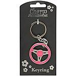 image of Keyring Steering Wheel Hers (Pink)