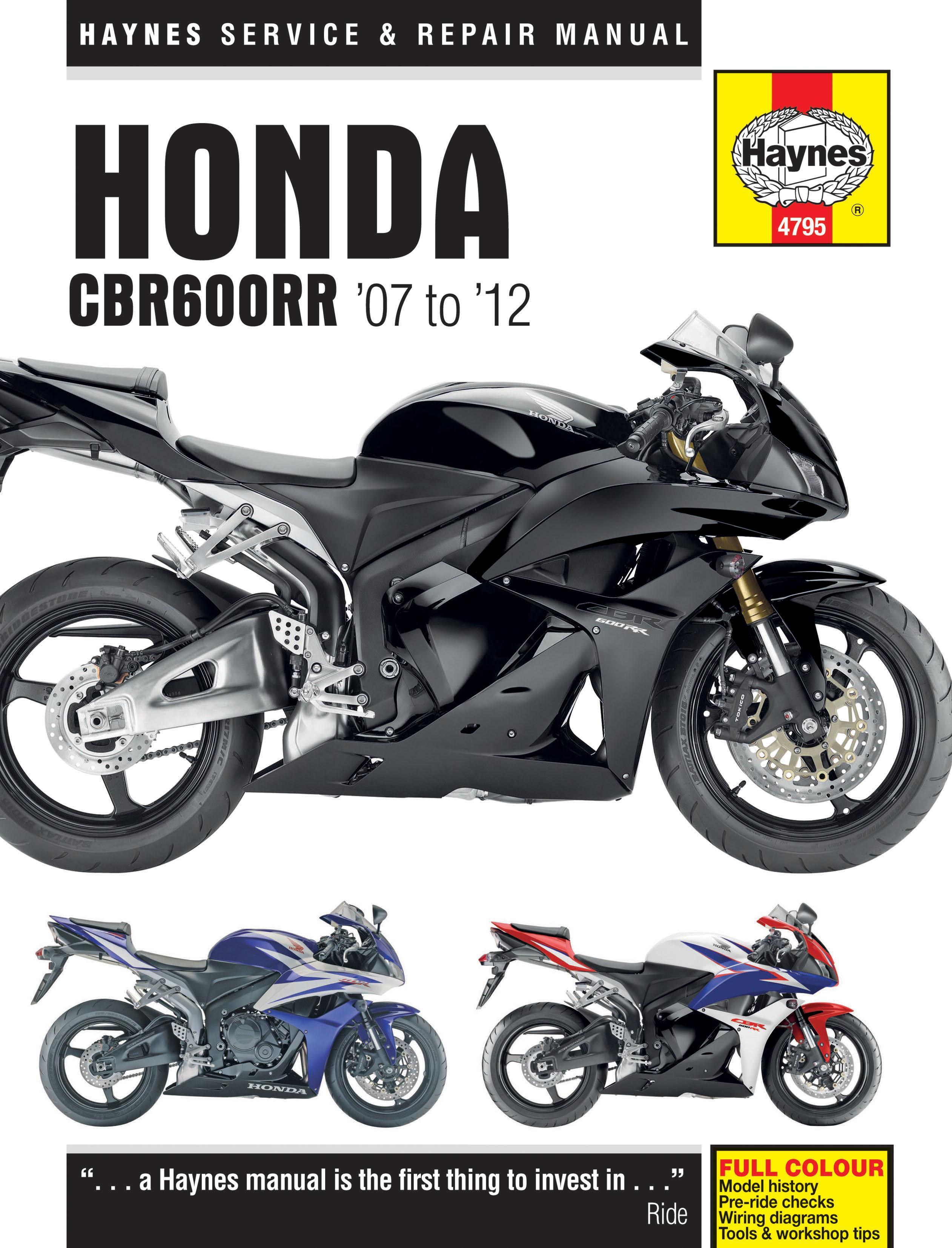 haynes honda cbr600rr motorcycle ma rh halfords com motorcycle repair manuals honda honda motorcycle manual download