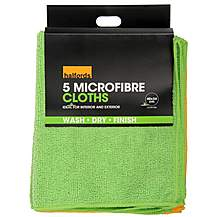 image of Halfords Microfibre Cloths 5 Pack