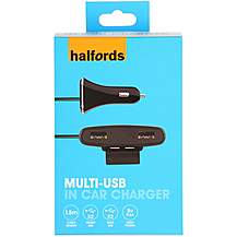 image of Halfords Front and Rear In Car Charger