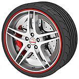 Rimblades Alloy Wheel Rim Protectors Red