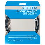 Shimano MTB Gear Cable Set with Stainless Steel Inner Wire - Black