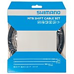 image of Shimano MTB Gear Cable Set with Stainless Steel Inner Wire - Black