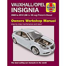 image of Haynes Vauxhall/Opel Insignia (08 - 12) Petrol and Diesel Manual