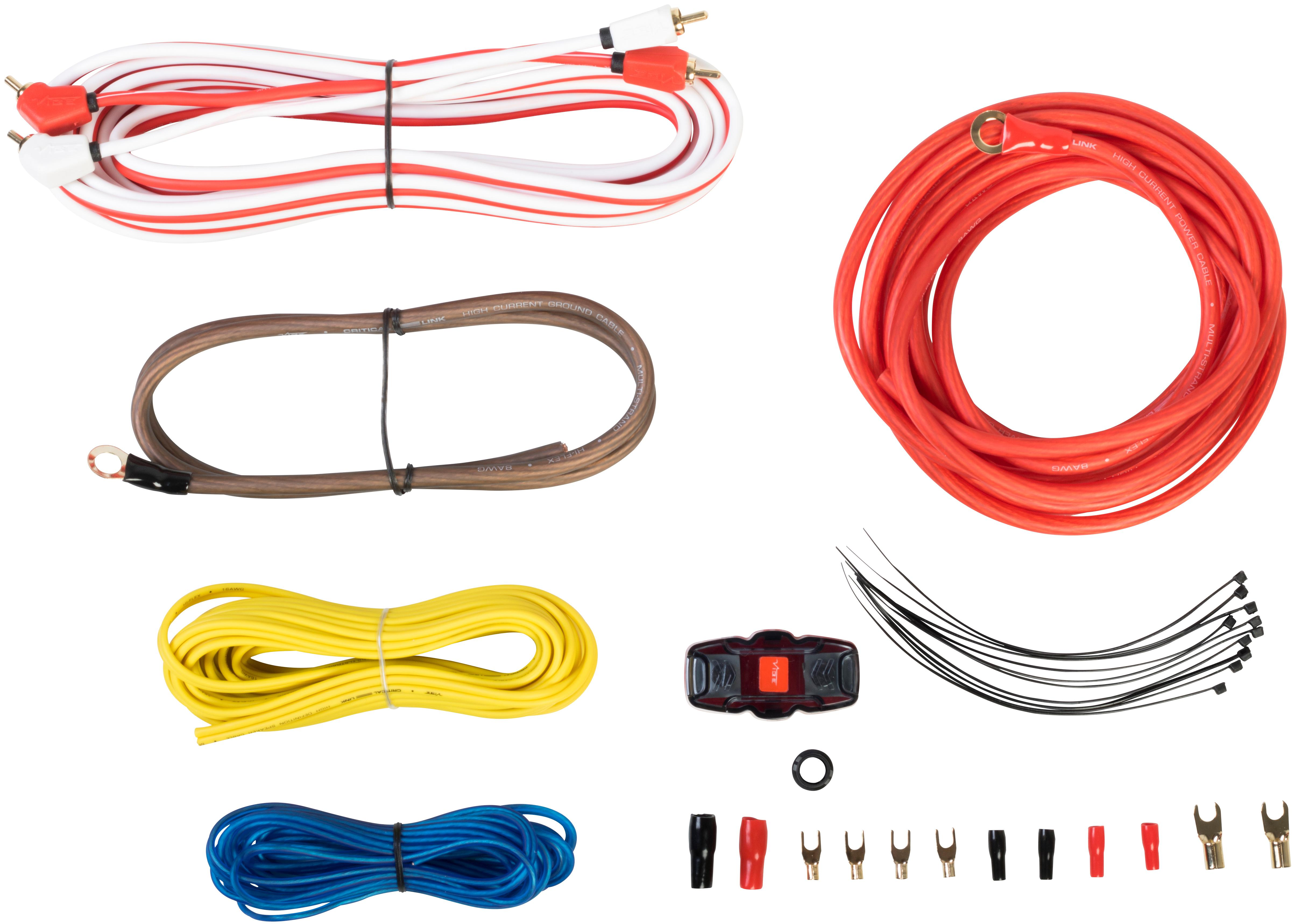 Sub Wiring Kit Halfords Wire Center Vibe Stereo 8 Gauge Amplifier 1500w Audio Images Awg Advanced Amp Rh Com Basic Car