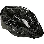 Black and Grey Lines Kids Bike Helmet