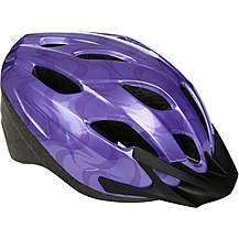 image of Purple Swirls Kids Bike Helmet