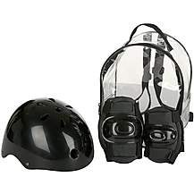 image of Black Helmet and Pads Backpack