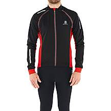 image of Boardman Mens Removable Sleeve Cycling Jacket Black/Red