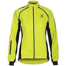 image of Boardman Womens Removable Sleeve Cycling Jacket Fluro Lime