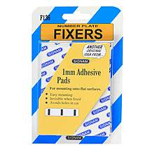 image of Number Plate Fixers - 1mm Adhesive Spacer Pads