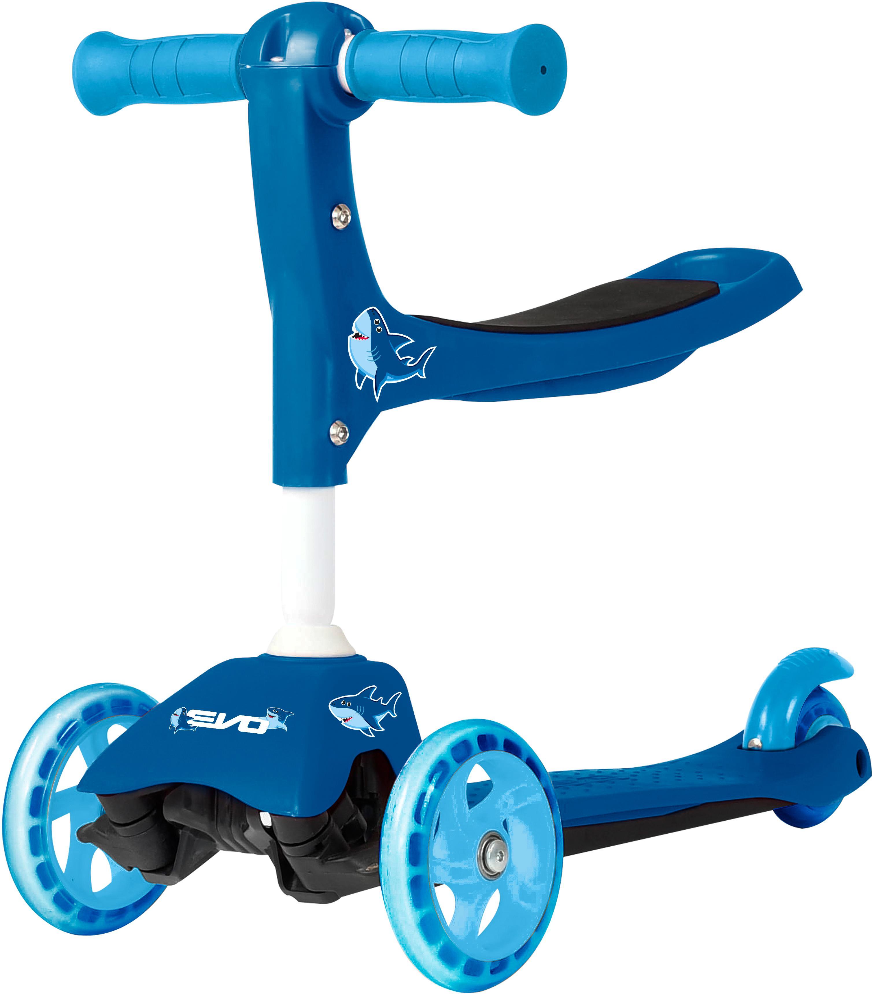 Evo+ 3-In-1 Kids Scooter - Blue Shark