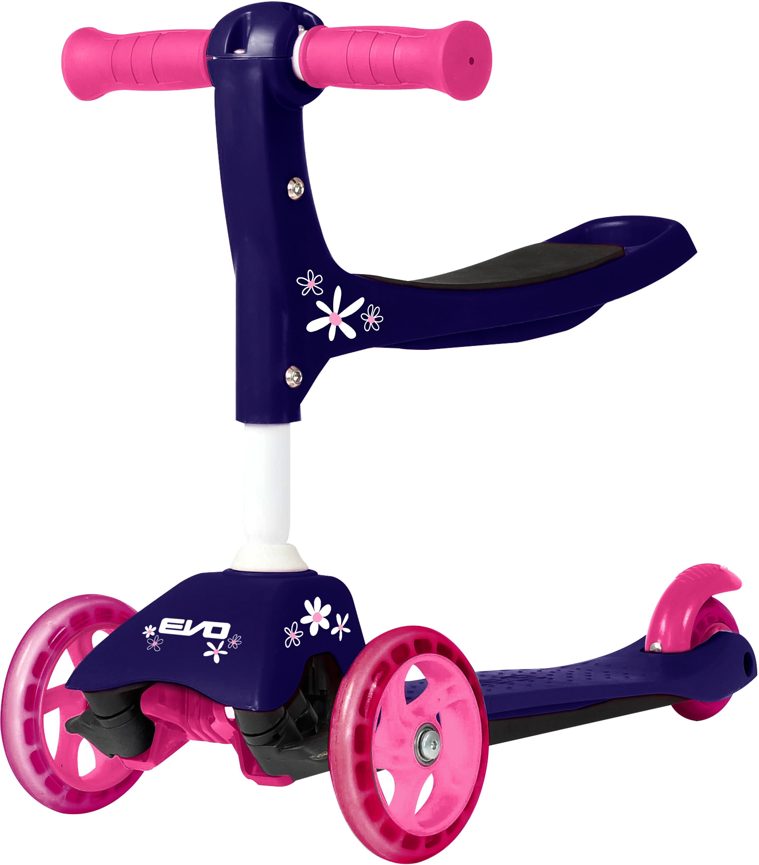 Evo+ 3-In-1 Kids Scooter - Purple Flower