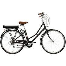 "image of Pendleton Somerby Electric Hybrid Bike - Black & Rose Gold - 17"", 19"" Frames"