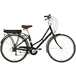 "image of Pendleton Somerby Electric Hybrid Bike - Black & Rose Gold - 17"", 19"" Frame"