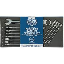 image of Halfords Advanced Modular Tray Set - 12 Piece Flexi Ratchet Spanner