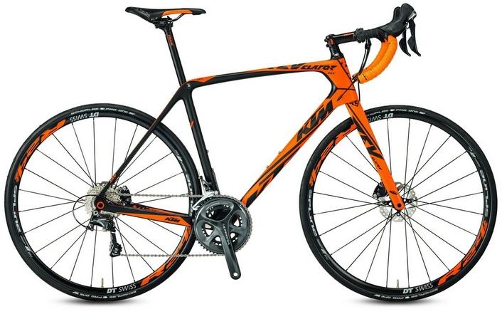 ktm revelator sky orange ultegra mens road bike - 2017