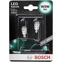 image of Bosch 501 (W5W) LED Car Bulbs x2