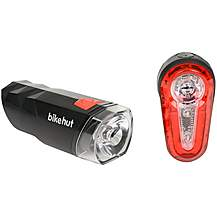 image of Bikehut 7.5 Lux Bike Light Set Red/Black