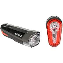 image of Bikehut 12 Lux Bike Light Set Red/Grey