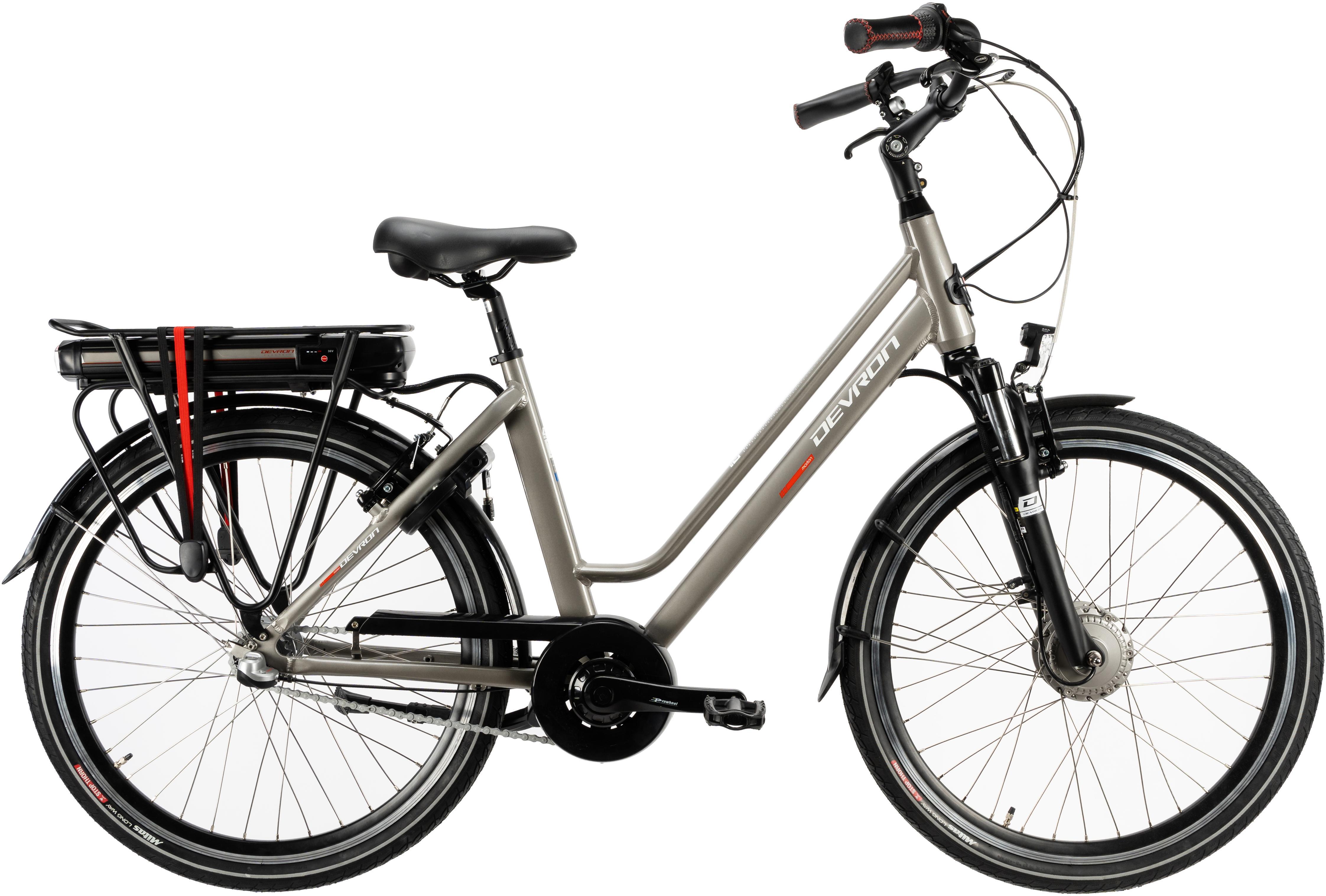 Devron Womens City Electric Bike 2020 - 26 Inch Wheel - 46Cm (Grey)