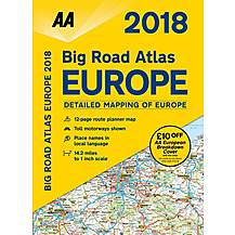 image of Big Road Atlas Europe 2018