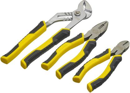 Stanley 3-Piece Control Grip Plier Set
