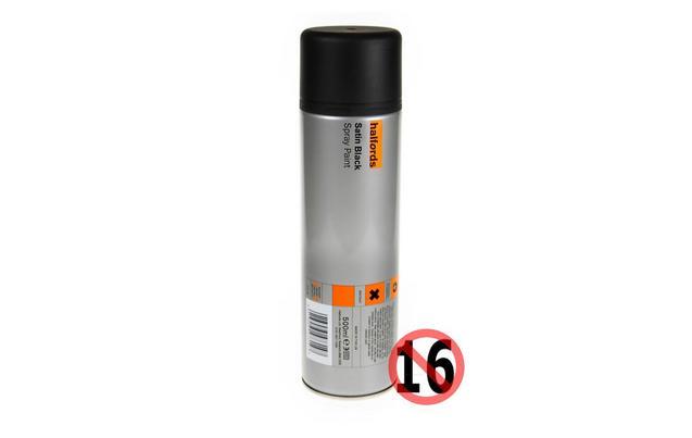 Halfords Satin Black Spray Paint 50...
