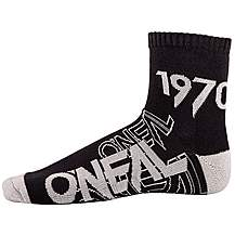 image of O Neal Crew Sock Black/Grey