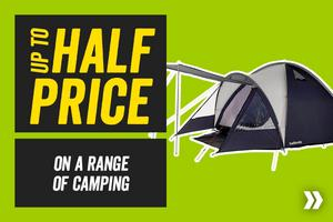 Up to half price on a range of Camping