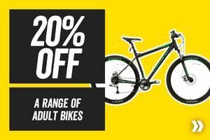 20% off a Range of Adult Bikes