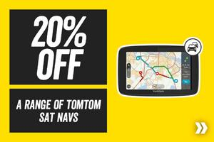 20% off a range of TOM TOM