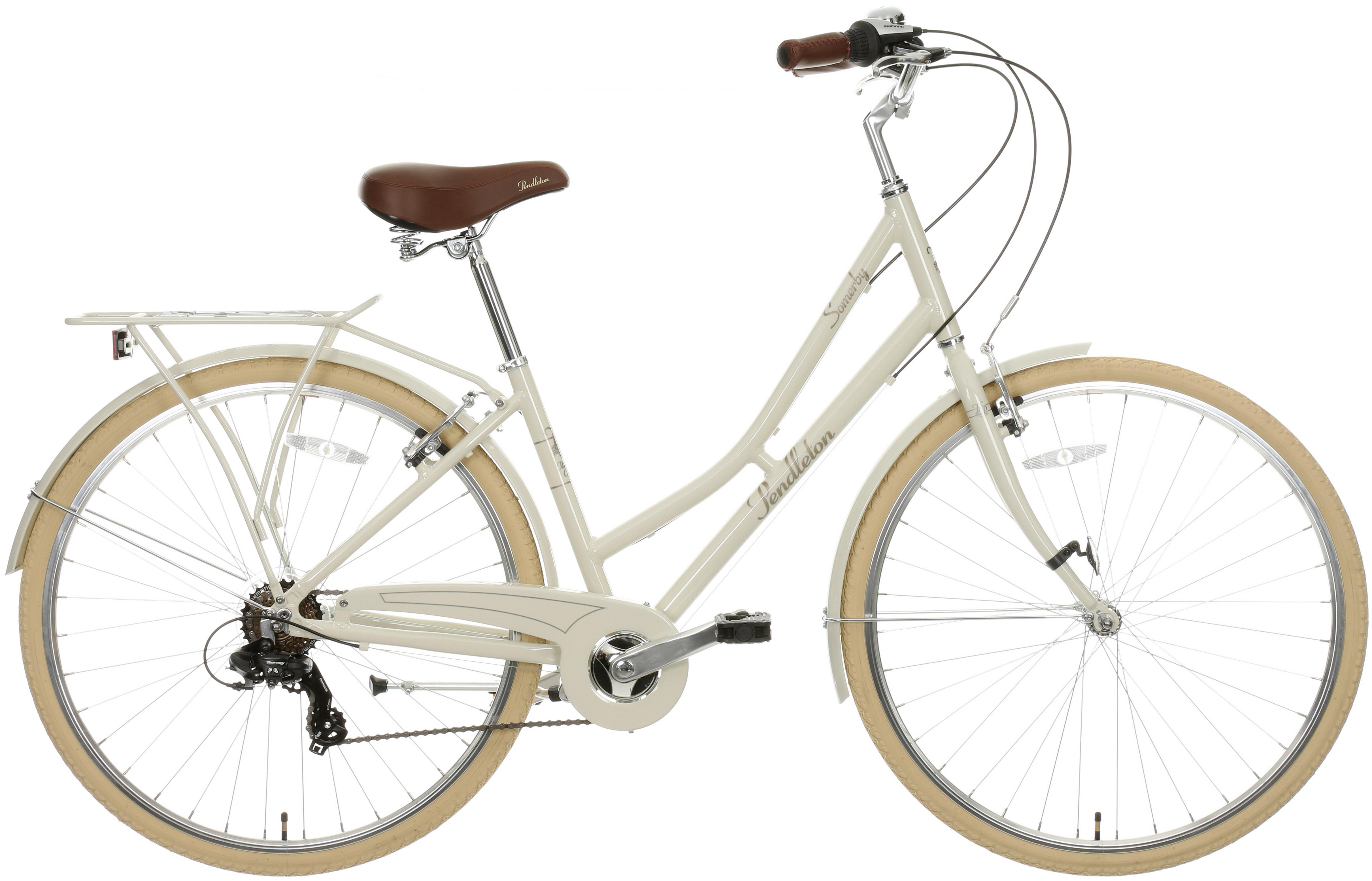 Pendleton Somerby Hybrid Bike - Bone 17 inch