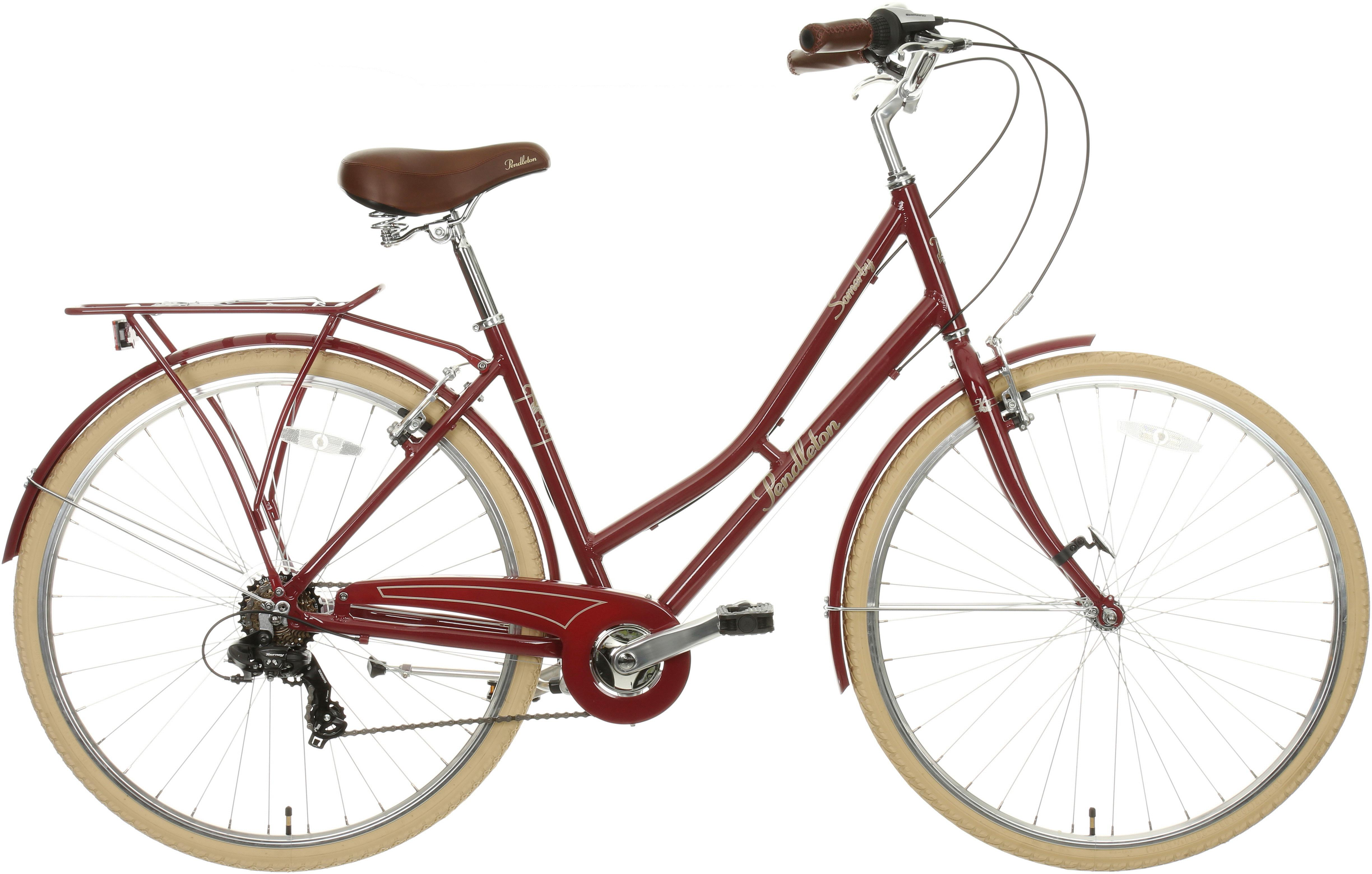 Pendleton Somerby Hybrid Bike - Maroon Red 17 inch