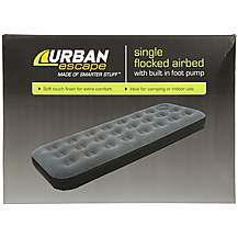 image of Urban Escape Airbed with Built In Pump - Single